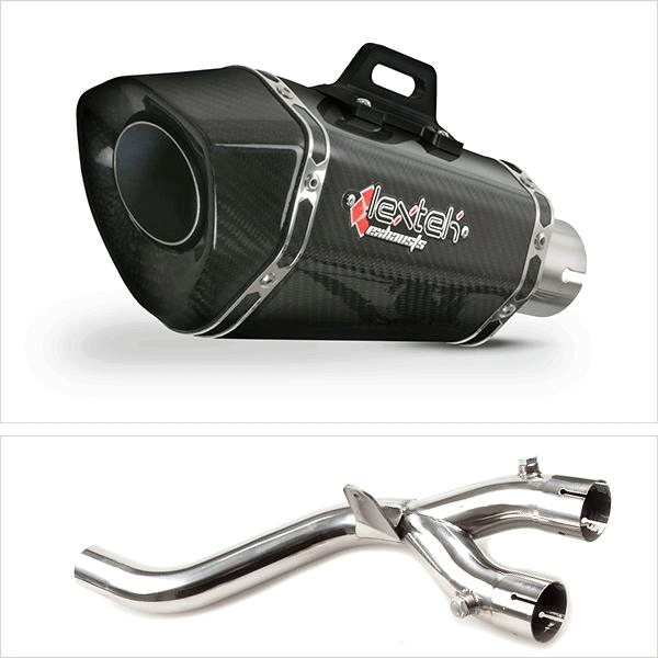 Lextek XP8C Exhaust Kit with De-Cat Link Pipe for Yamaha MT-10 (16-19)