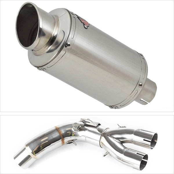 Lextek YP4 Exhaust Kit with De-Cat Link Pipe for HONDA CB1000 R (08-17)