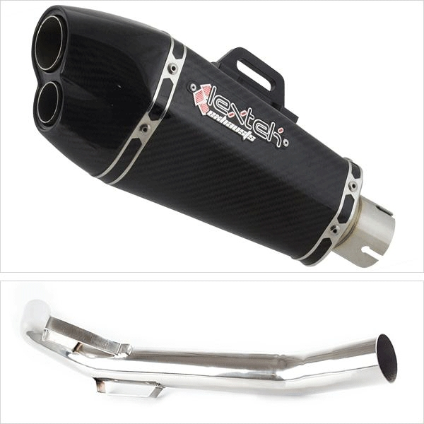 Lextek XP13C Exhaust System with Link Pipe for Triumph Explorer 1200 (12-18)