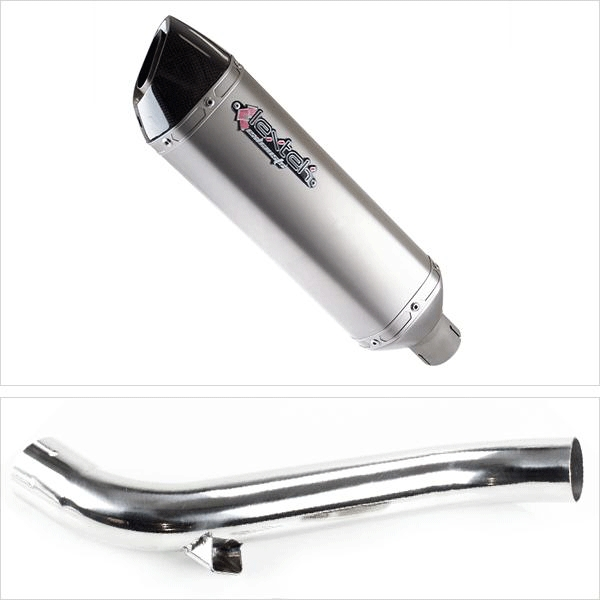 Lextek VP1 Matt S/Steel Hexagonal Exhaust with Link Pipe for Honda VFR1200 F X Cross Tourer (10-16)