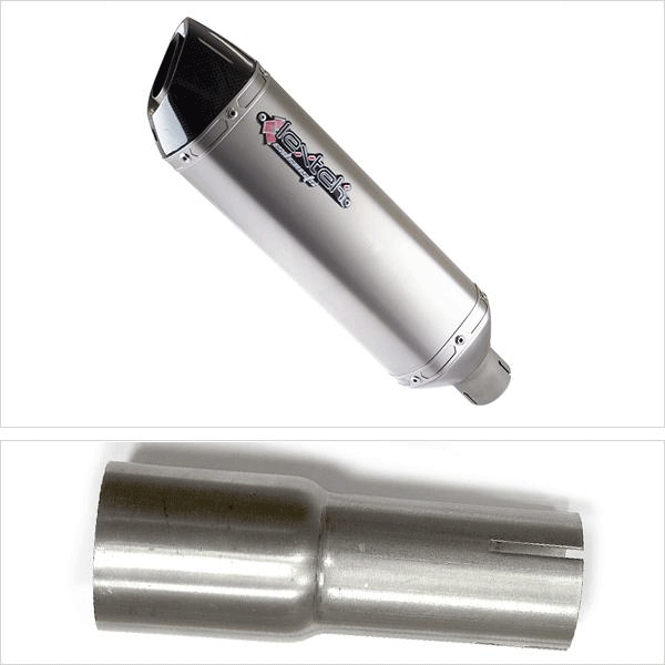Lextek VP1 Matt S/Steel Hexagonal Exhaust System for Lexmoto/Pulse Adrenaline (05-15)