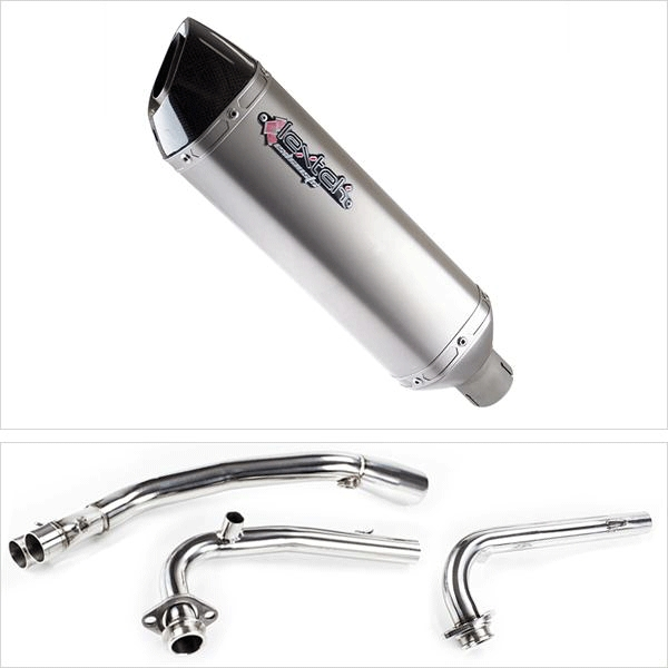 Lextek VP1 Matt S/Steel Hexagonal Exhaust System for Yamaha T-Max 530 (14-16)