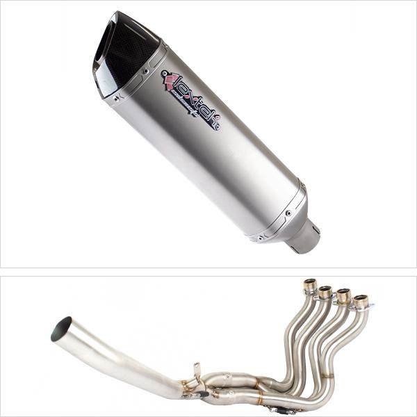 Lextek VP1 Matt S/Steel Hexagonal Exhaust System for Suzuki GSXR 1000 (12-16)