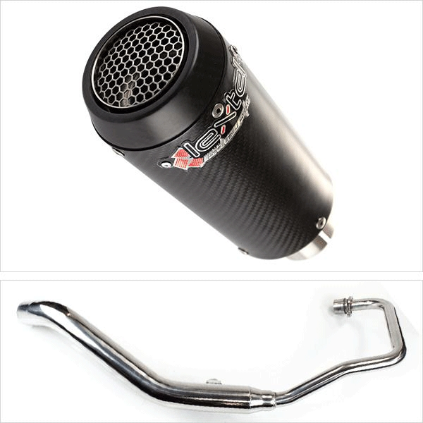Lextek CP9C Full Carbon Exhaust System for Lexmoto XTR S 125 (10