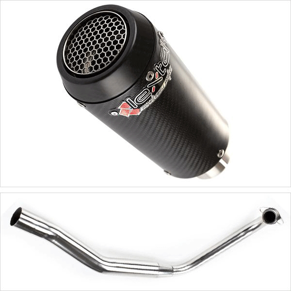 Lextek CP9C Full Carbon Exhaust System for Honda CBF 125 (08-16)