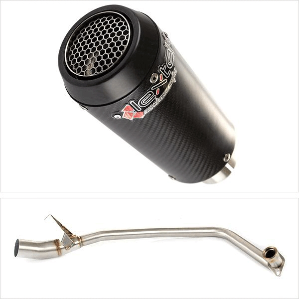 Lextek CP9C Full Carbon Exhaust System for Lexmoto Aspire