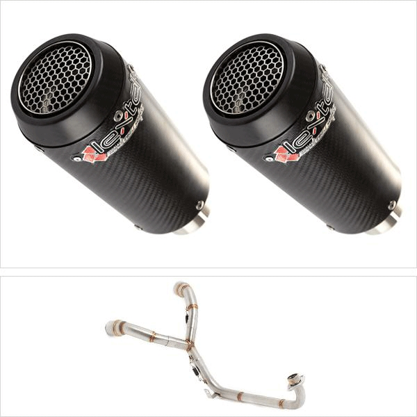Lextek CP9C Twin Under Seat Exhaust System for HONDA MSX (13-16)