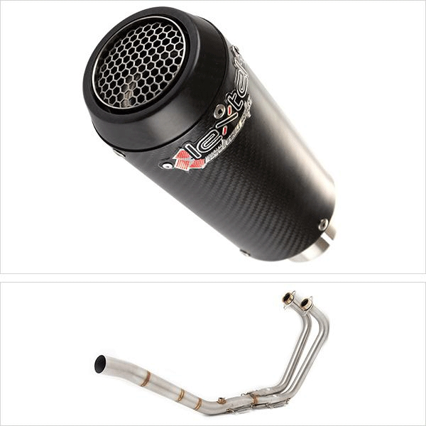 Lextek CP9C Exhaust System for Yamaha MT-03 & YZF R3 (15-18)