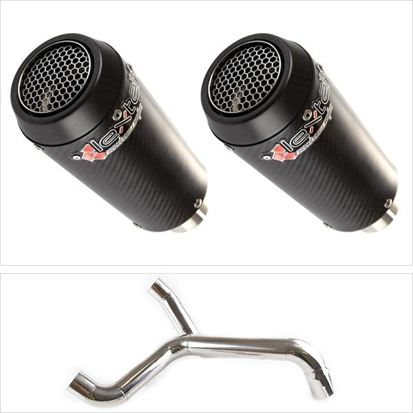 Lextek CP9CX2 with Twin Underseat Link Pipe for Triumph Speed Triple 1050 (16-20)