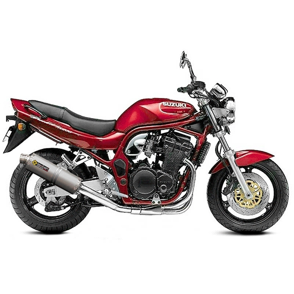 Lextek OP1 Matt S/Steel Oval Exhaust with Link Pipe for Suzuki GSF600 Bandit (95-06)