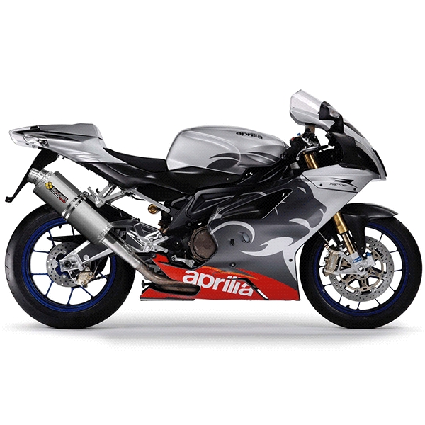 Lextek OP1 Matt S/Steel Oval Exhausts with Link Pipes for Aprilia RSV 1000 R (04-08)/Tuono (05-09)