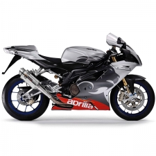 Lextek YP4 S/Steel Stubby Exhausts with Link Pipes for Aprilia RSV 1000 R (04-08)/Tuono (05-09)