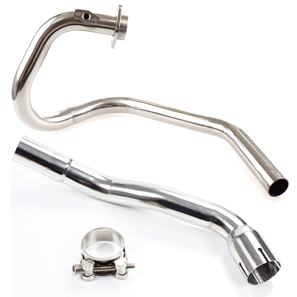 Lextek Stainless Steel Downpipe with Link Pipe for Pulse XF250GY (2006-2015)