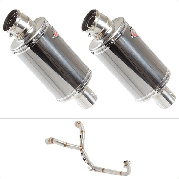 Lextek OP15 Twin Under Seat Exhaust System for HONDA MSX (13-16)