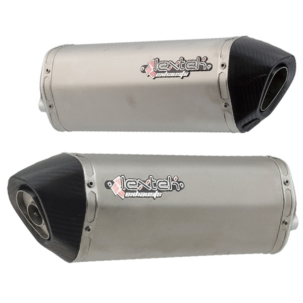 2 x Lextek S41 S/Steel Exhaust Silencer 4 Bolt Fixing