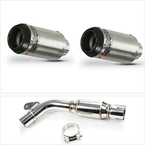 Lextek CP1 Matt S/Steel Exhaust System for Yamaha FZ6 (07-10)