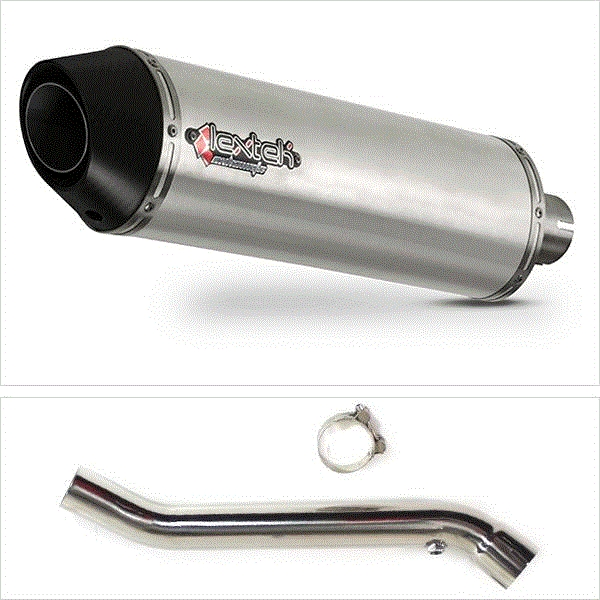 Lextek RP1 Gloss S/Steel Round Exhaust with Link Pipe for Kawasaki ZX-10R (08-10)