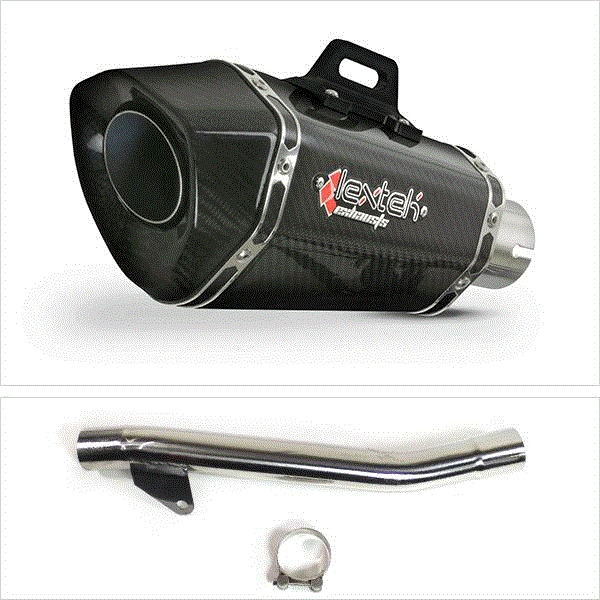 Lextek XP8C Carbon Fibre Exhaust with Link Pipe for Suzuki GSF600 Bandit (95-06)