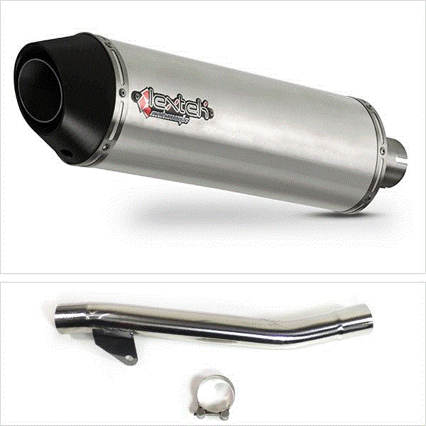 Lextek RP1 Gloss S/Steel Exhaust with Link Pipe for Suzuki GSF600 Bandit (95-06)