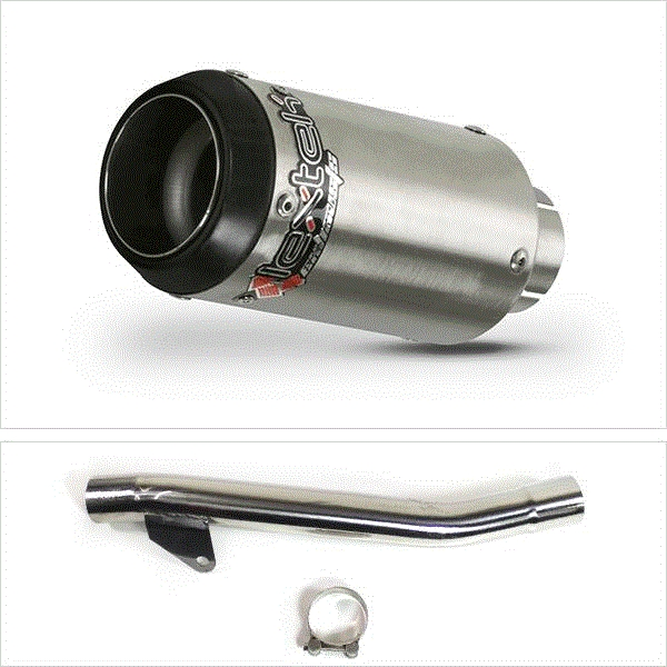 Lextek CP1 Matt S/Steel Exhaust with Link Pipe for Suzuki GSF600 Bandit (95-06)