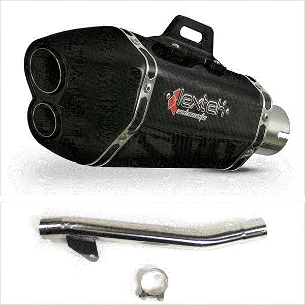 Lextek XP13C Carbon Fibre Exhaust with Link Pipe for Suzuki GSF600 Bandit (95-06)