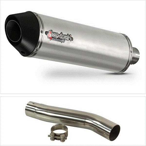 Lextek RP1 Gloss S/Steel Exhaust with Link Pipe for Suzuki GSXR600/750 (08-10)