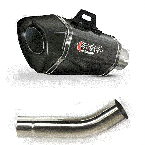 Lextek XP8C Carbon Fibre Exhaust with Link Pipe for Suzuki GSXR600/750 (11-17)
