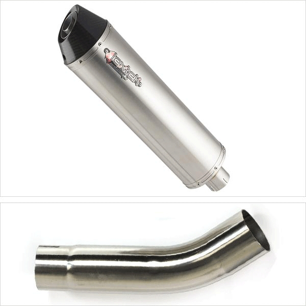 Lextek RP1 Gloss S/Steel Exhaust with Link Pipe for Suzuki GSXR600/750 (11-17)