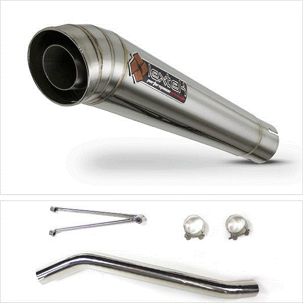 Lextek MP4 S/Steel Exhaust with High Level Link Pipe for Suzuki GSXR600/750 (06-07)