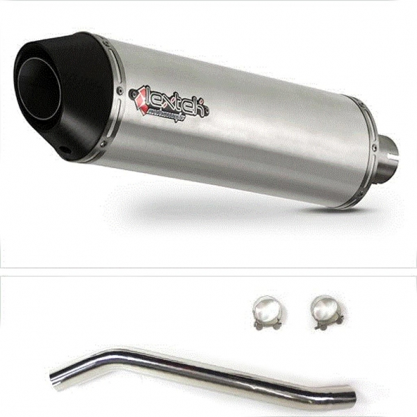 Lextek RP1 Gloss S/Steel Exhaust with High Level Link Pipe for Suzuki GSXR600/750 (06-07)