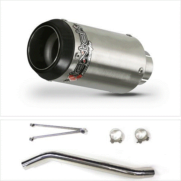 Lextek CP1 Matt S/Steel Exhaust with High Level Link Pipe for Suzuki GSXR600/750 (06-07)