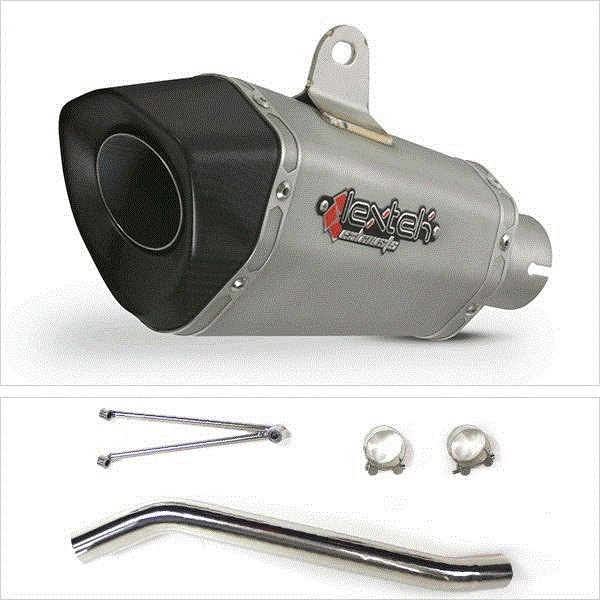 Lextek XP10 Titanium Look Exhaust with High Level Link Pipe for Suzuki GSXR600/750 (06-07)