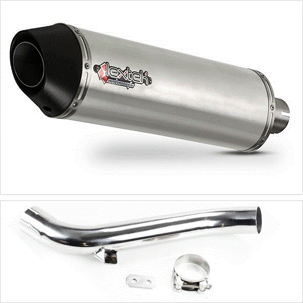 Lextek RP1 Gloss S/Steel Exhaust with Link Pipe for Honda VFR1200 F X Cross Tourer (10-16)