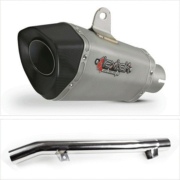 Lextek XP10 Titanium Look Exhaust with Link Pipe for Suzuki GSF650/1250 Oil Cooled (05-06)