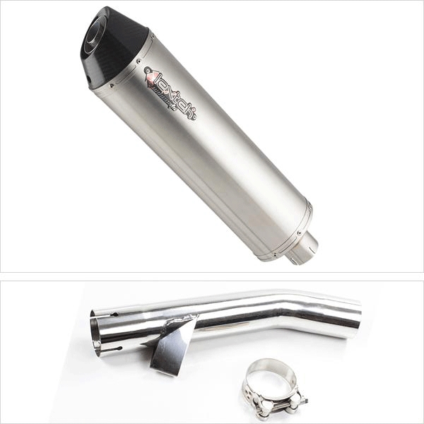 Lextek RP1 Gloss S/Steel Exhaust System for Yamaha FZS 600 (97-03)