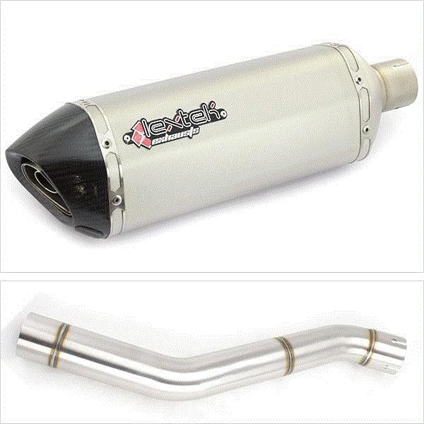 Lextek SP1 Matt S/Steel Exhaust with Link Pipe for Honda CBR600 F (87-90)