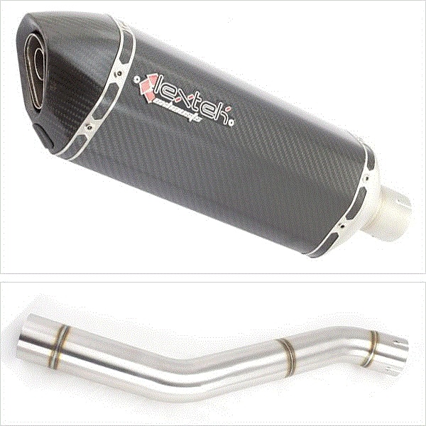 Lextek SP8C Carbon Fibre Exhaust with Link Pipe for Honda CBR600 F (87-90)