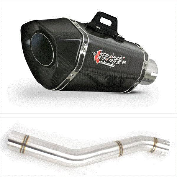 Lextek XP8C Carbon Fibre Exhaust with Link Pipe for Honda CBR600 F (87-90)