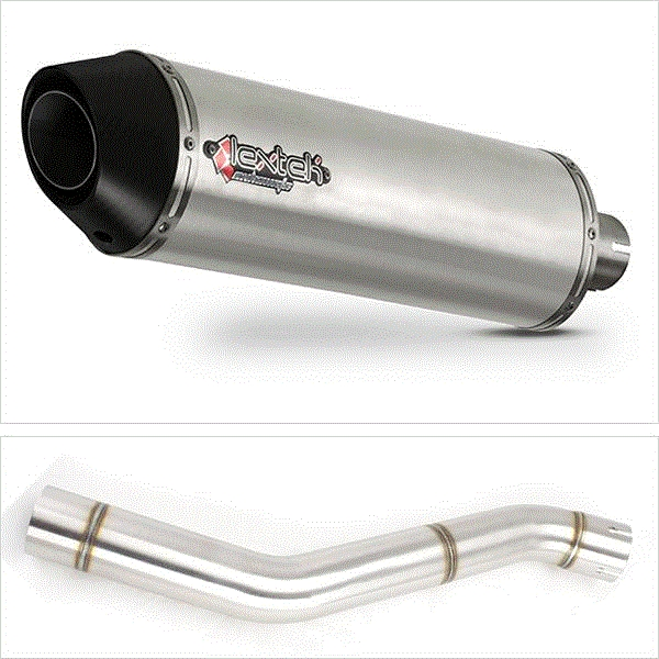 Lextek RP1 Gloss S/Steel Exhaust with Link Pipe for Honda CBR600 F (87-90)