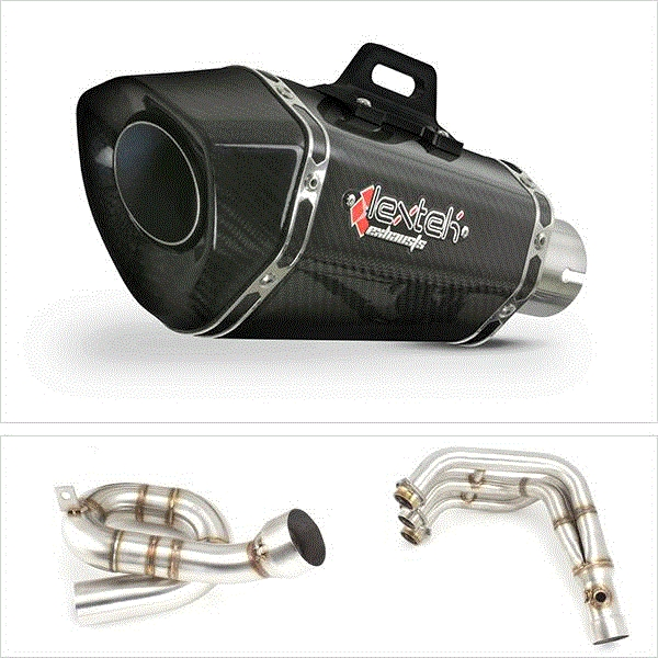 Lextek XP8C Carbon Fibre Low Level Exhaust System for Yamaha MT-09 (13-19)
