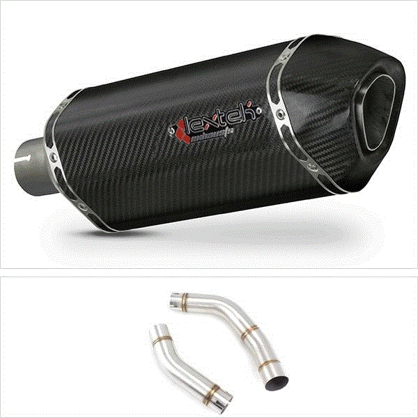Lextek SP8C Carbon Fibre Exhaust with Link Pipe for Yamaha YZF R1 (09-14)