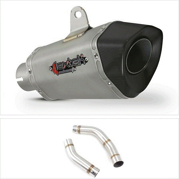 Lextek XP10 Titanium Look Exhaust with Link Pipe for Yamaha YZF R1 (09-14)