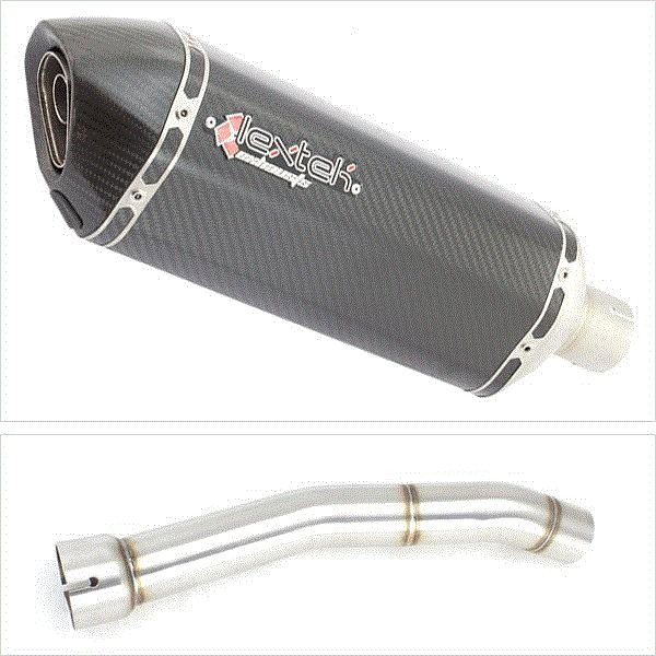 Lextek SP8C Carbon Fibre Exhaust with Link Pipe for Yamaha YZF R1 (99-01)