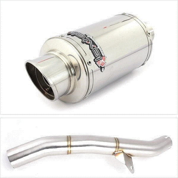 Lextek YP4 S/Steel Exhaust with Link Pipe for Honda CBR600 F/FR/FS (01-02)