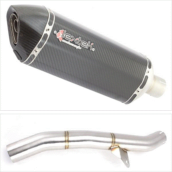 Lextek SP8C Carbon Fibre Exhaust with Link Pipe for Honda CBR600 F/FR/FS (01-02)