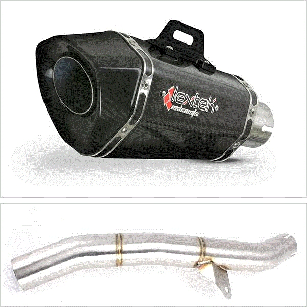 Lextek XP8C Carbon Fibre Exhaust with Link Pipe for Honda CBR600 F/FR/FS (01-02)