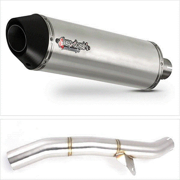 Lextek RP1 Gloss S/Steel Exhaust with Link Pipe for Honda CBR600 F/FR/FS (01-02)