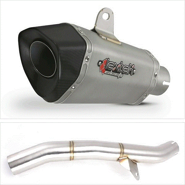 Lextek XP10 Titanium Look Exhaust with Link Pipe for Honda CBR600 F/FR/FS (01-02)