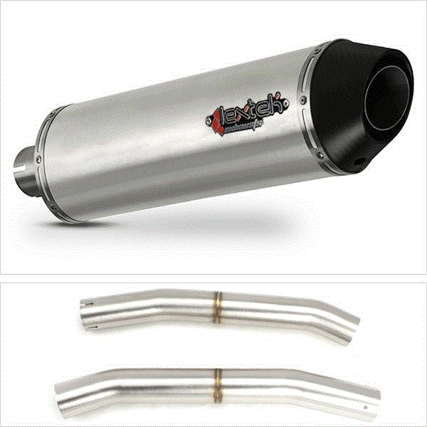 Lextek RP1 Matt S/Steel Exhaust with Link Pipe for Suzuki GSX 1300 R Hayabusa (08-17)