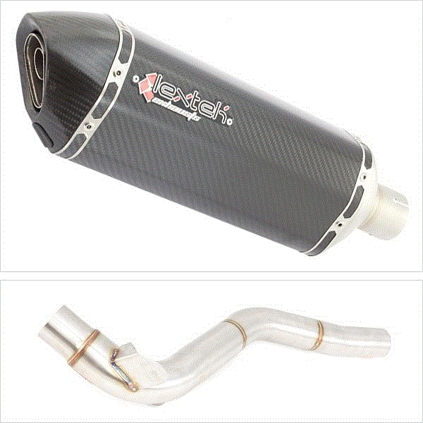Lextek SP8C Carbon Fibre Exhaust with Link Pipe for Triumph Tiger 1050 (07-12)